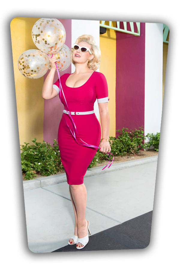 Annie Dress Hot Pink