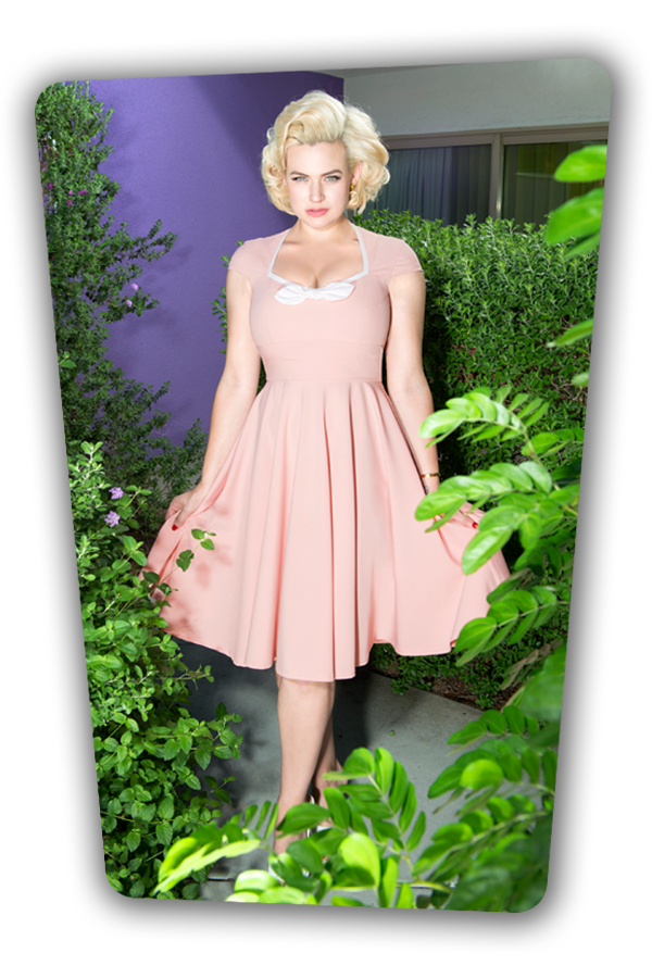 Karen Swing Dress in Pink