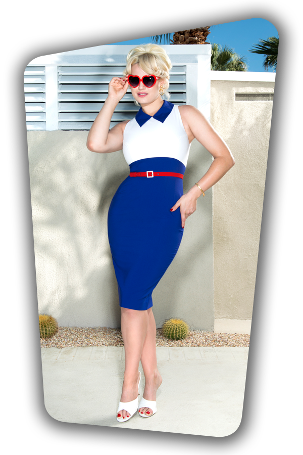 Kelly Dress Royal Blue