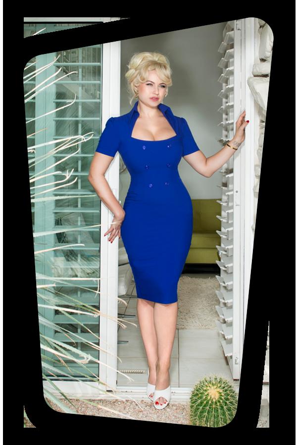 Rita Rae Dress Royal Blue