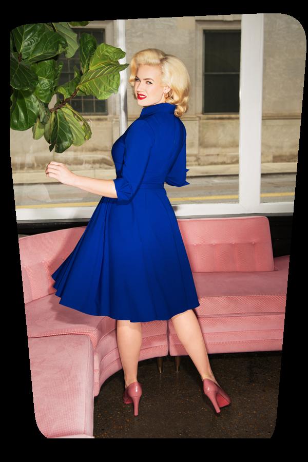 Glamour Bunny_Lorelei Swing Dress in Royal Blue_25753_20180622_07