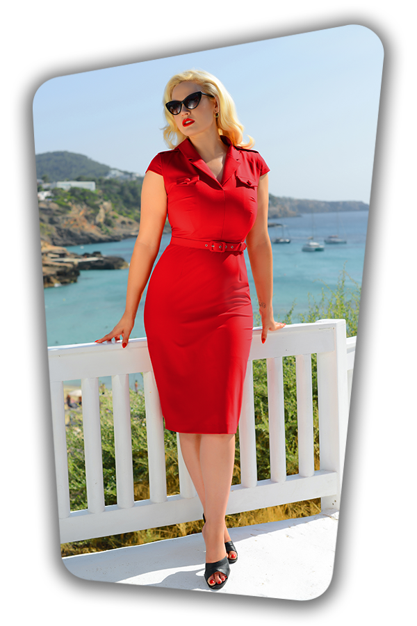 Lydia Dress in Red_1286