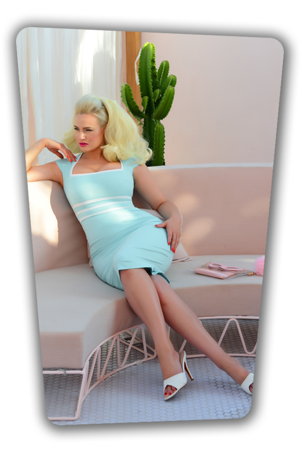 Stella Dress in Light Blue