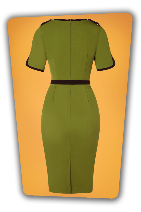 Glamour Bunny_29261_Demi Pencil Dress in Green_20190403_008W