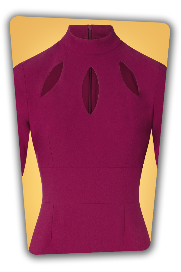 Glamour Bunny_29266_Joy Pencil Dress in Fuschia_20190328_003V