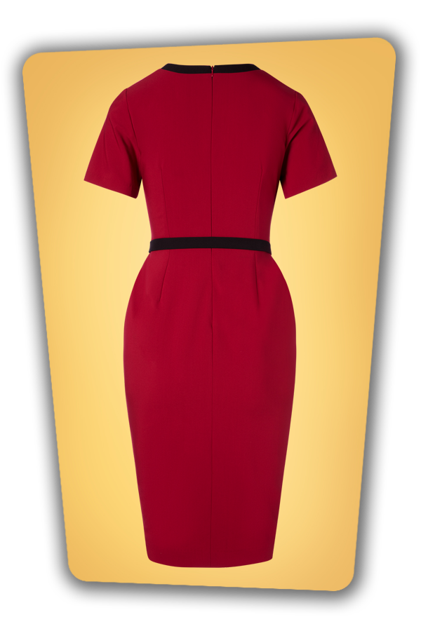 Glamour Bunny_29271_Jessica Pencil Dress in Bordeaux_20190403_005W