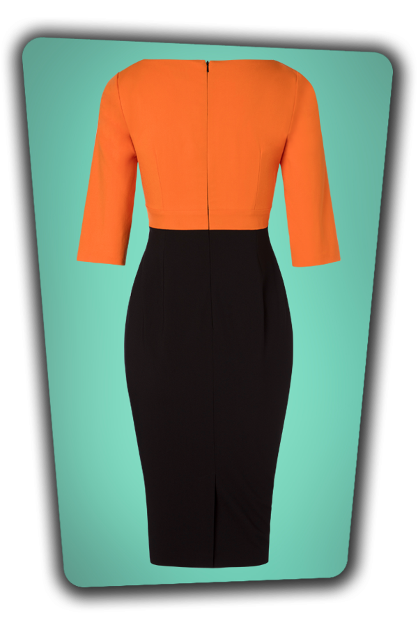 Glamour Bunny_29272_Nova Pencil Dress in Orange_20190328_008W