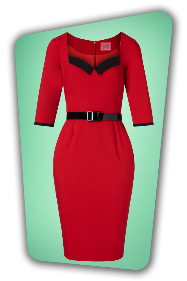Glamour Bunny_29280_Harley Pencil Dress in Red_20190403_001W