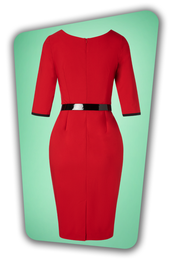 Glamour Bunny_29280_Harley Pencil Dress in Red_20190403_006W