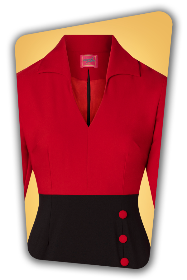 Glamour Bunny_29283_Damcy Pencil Dress in Red_20190328_003V