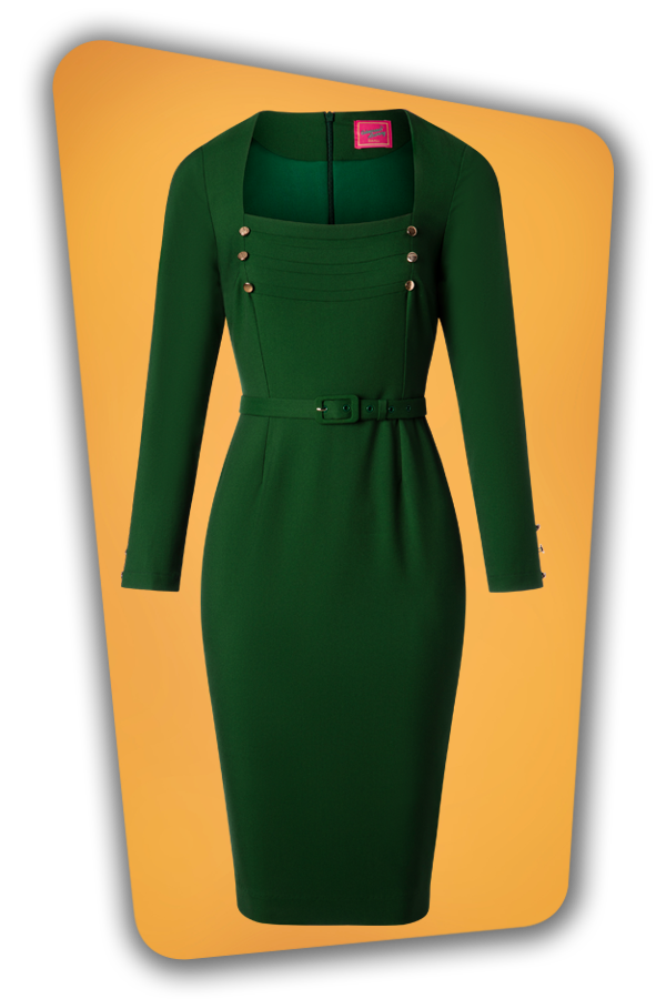 Glamour Bunny_29287_Raven Pencil Dress in Green_20190408_003