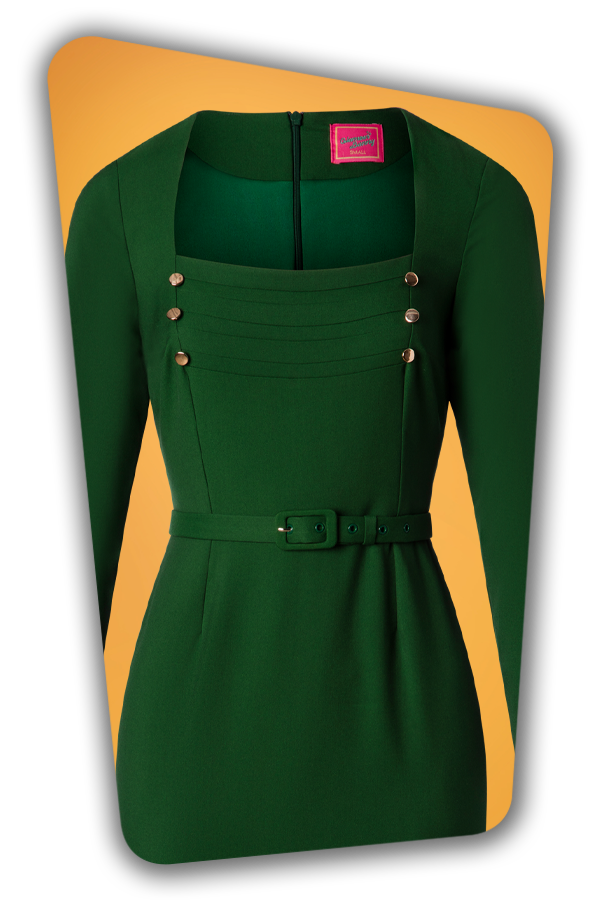 Glamour Bunny_29287_Raven Pencil Dress in Green_20190408_003V