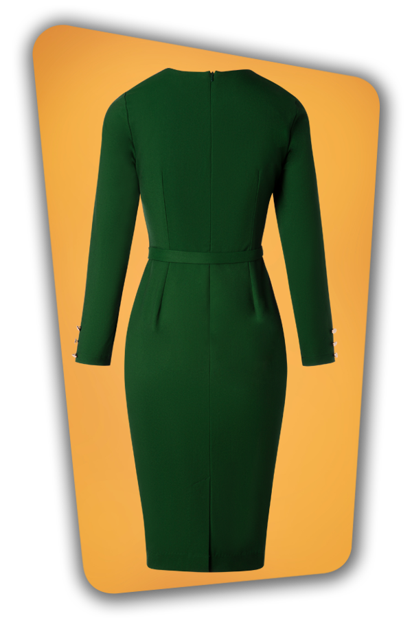 Glamour Bunny_29287_Raven Pencil Dress in Green_20190408_010