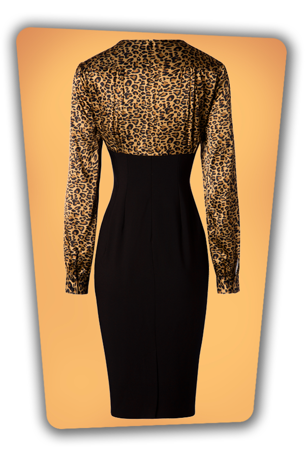 Glamour Bunny_29291_Harriet Pencil Dress in Leopard_20190408_008W