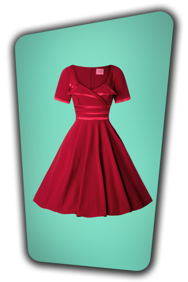 Glamour Bunny_29296_Aline Swing Dress in Bordeaux_20190410_001W