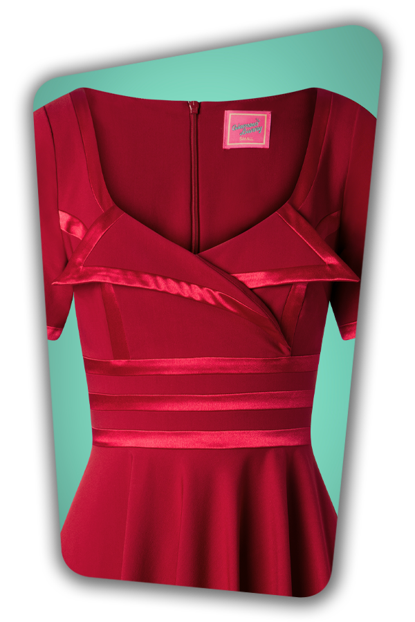 Glamour Bunny_29296_Aline Swing Dress in Bordeaux_20190410_003V