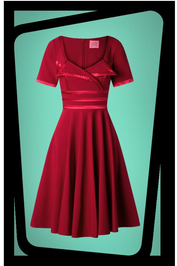 Glamour Bunny_29296_Aline Swing Dress in Bordeaux_20190410_003W