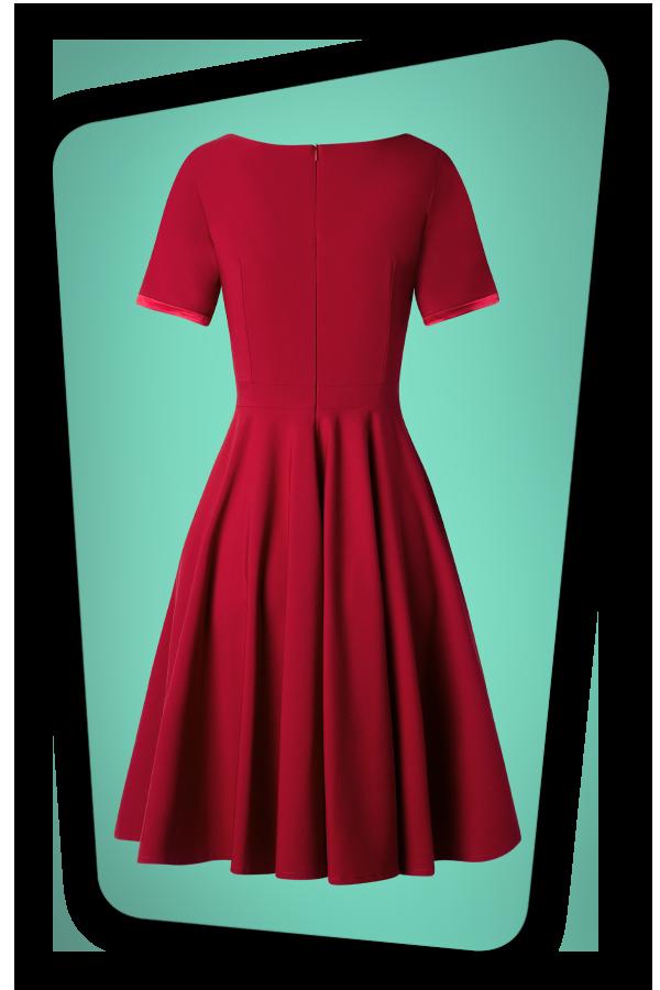 Glamour Bunny_29296_Aline Swing Dress in Bordeaux_20190410_006W