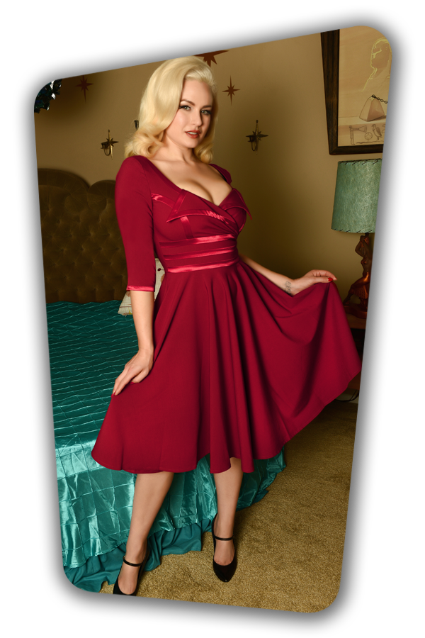 Glamour Bunny_29296_Aline Swing Dress in Bordeaux_20190410_8509W