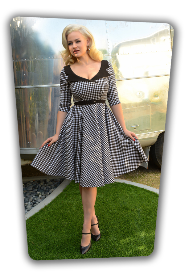 Glamour Bunny_29298_Britt Swing Dress in Gingham_20190410-7783