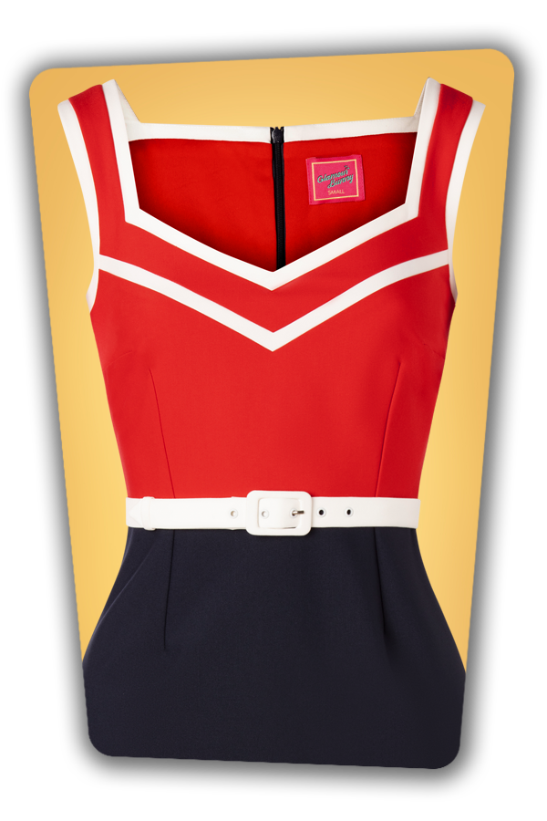 Glamour Bunny_32867_Barbara Pencil Dress Red Navy_20191205_004V