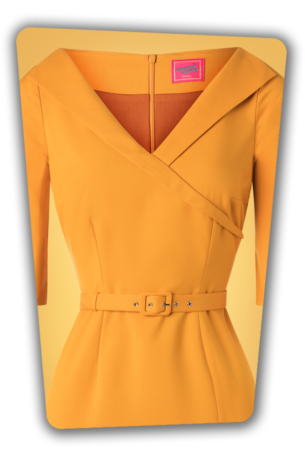 Glamour_Bunny_34715_Aviva Pencil dress Mustard Yellow_20191211_004V
