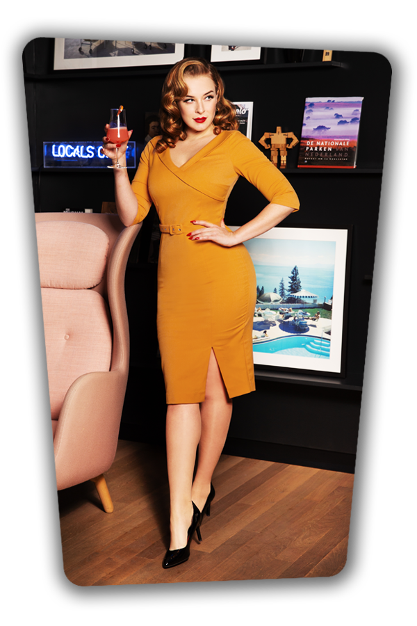 Glamour_Bunny_34715_Aviva Pencil dress Mustard Yellow_20200107_0125