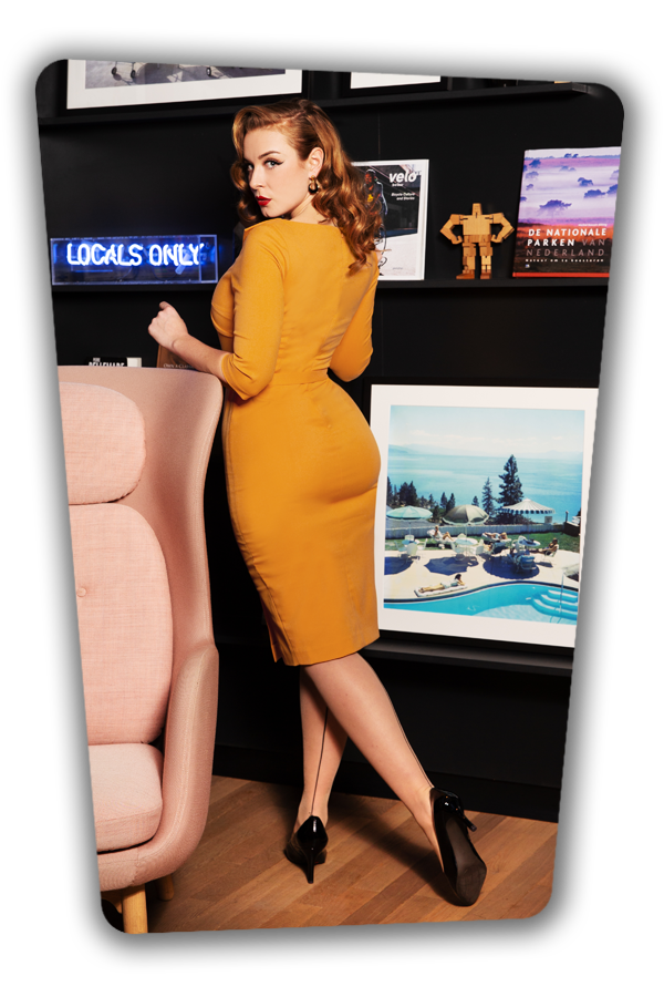 Glamour_Bunny_34715_Aviva Pencil dress Mustard Yellow_20200107_0159