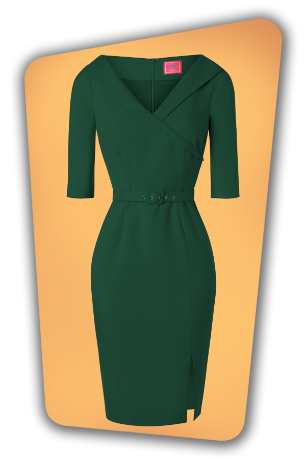 Glamour_Bunny_34716_Aviva Pencil Dress in Green_20191211_004