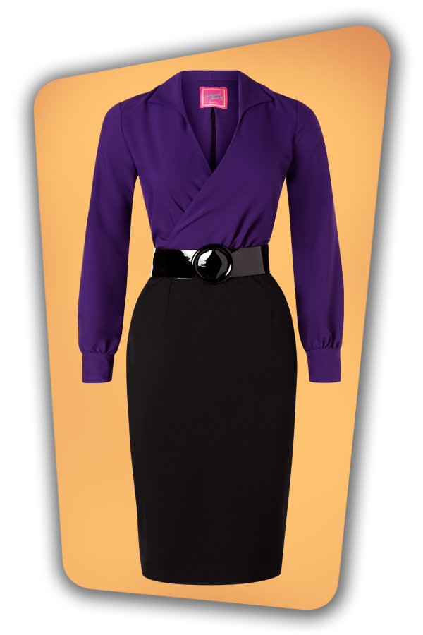 Glamour_Bunny_34724_Marly Pencil Dress_Purple Black_20191211_014