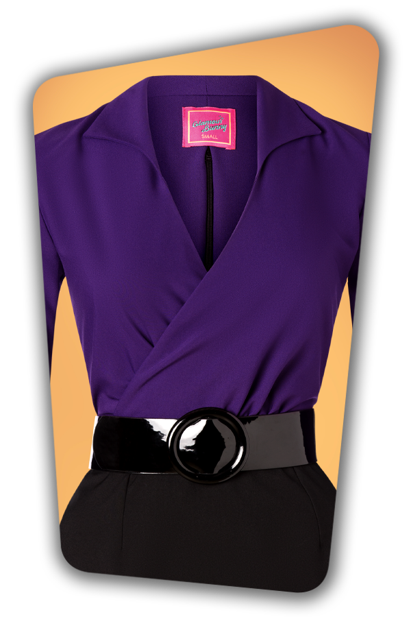 Glamour_Bunny_34724_Marly Pencil Dress_Purple Black_20191211_014V