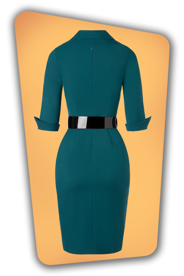 Glamour_Bunny_34726_Yade Pencil Dress_Green_20191211_010