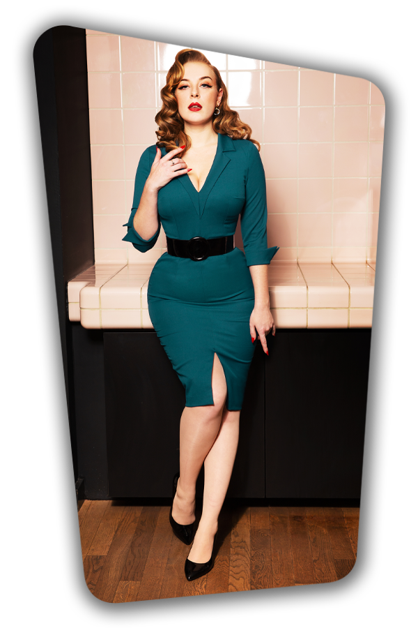 Glamour_Bunny_34726_Yade Pencil Dress_Green_20200107_0007