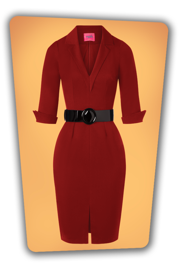 Glamour_Bunny_34727_Yade Pencil Dress in Red_20191211_002