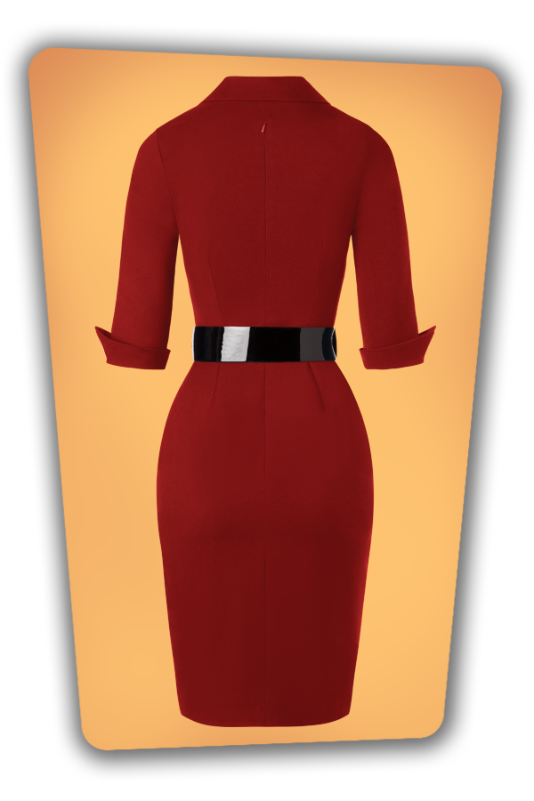 Glamour_Bunny_34727_Yade Pencil Dress in Red_20191211_010