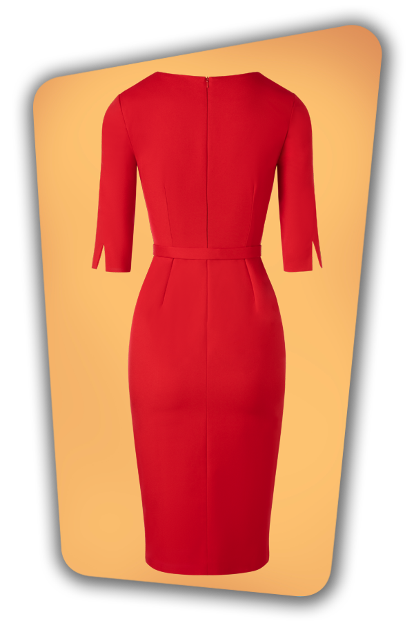 Glamour_Bunny_34728_Vive Pencil Dress_Red_20191211_011