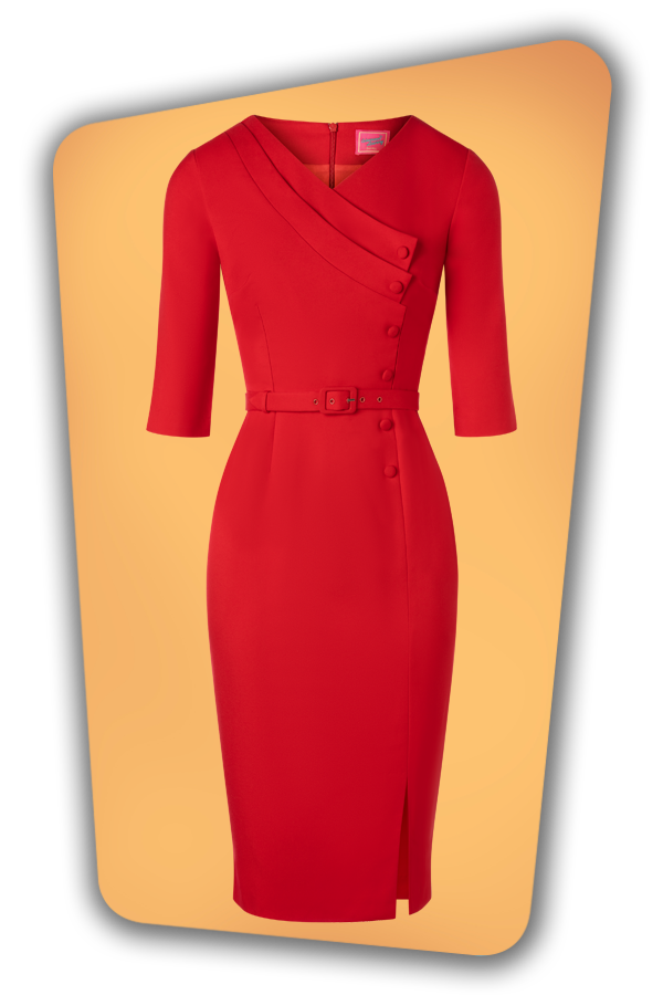 Glamour_Bunny_34728_Vive Pencil Dress_Red_20191211_016