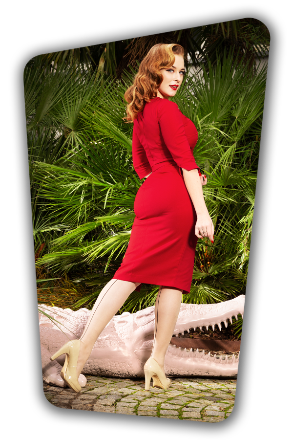 Glamour_Bunny_34728_Vive Pencil Dress_Red_20200107_0079