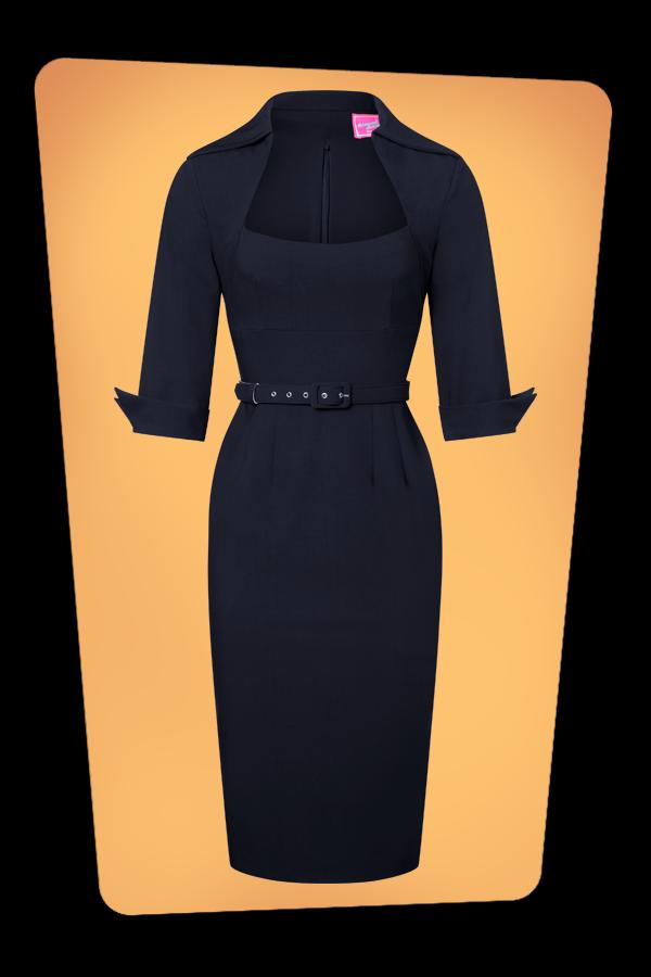 Glamour_Bunny_34731_Lorelei Pencil Dress in Navy_20180625_0004