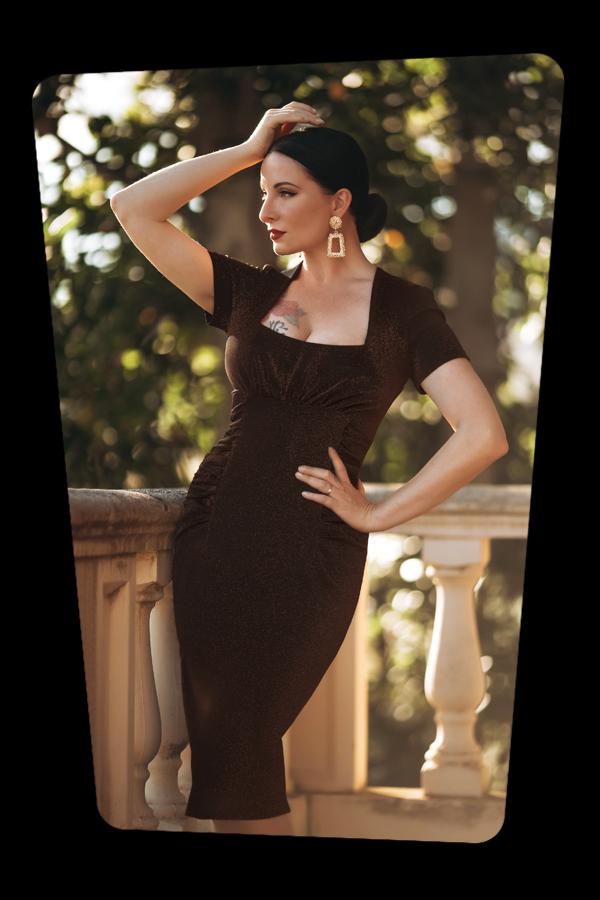 Glamour_Bunny_34764_Mila Pencil Dress_Bronze_20200515_040M